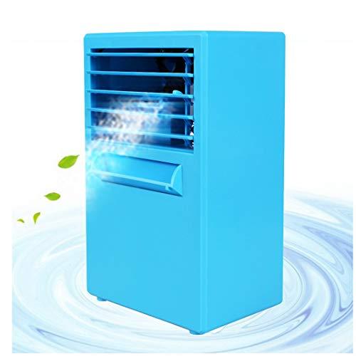 Aoopoo umidificatore purificatore d'aria per casa e ufficio portatile condizionatore climatizzatore ad acqua piccolo raffrescatore evaporativo portable air cooler(blu)