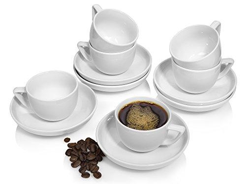 Rosenthal Espressotassen Set 'Bianchi' aus Porzellan 12 teilig | Füllmenge 60 ml | Aufeinander...