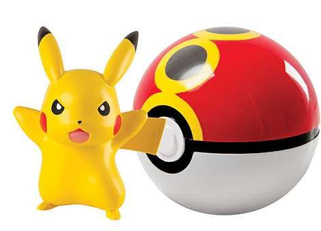 Pokemon TOMY Clip n Carry Pokeball Pikachu & Repeat Ball Figure Set by Tomy