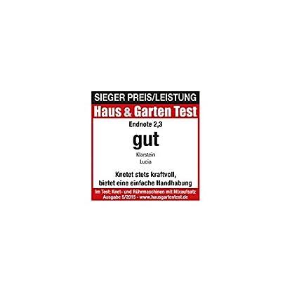 Klarstein-Lucia-Kchenmaschine-mit-Fleischwolf-und-Standmixer-Aufsatz