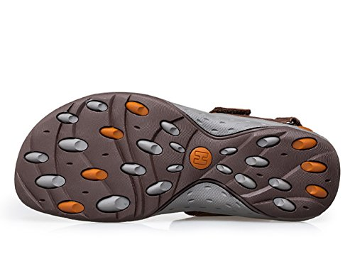 Icegrey Hommes Sandales Bout Ouvert Chaussons Antiderapant Marron