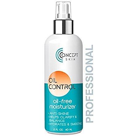 Öl Frei Gesichtscreme - Mattierend, für Ölige, Fettige und Unreine Haut. Akne Feuchtigkeitscreme mit Salicylsäure und Milchsäure für Unreine Haut von Concept Skin
