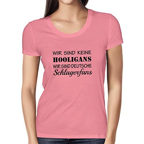 Texlab Damen Schlagerfans T-Shirt, Pink, M