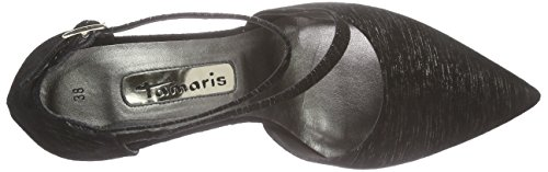 Tamaris Damen 24423 Pumps Schwarz (BLACK GLAM 091)