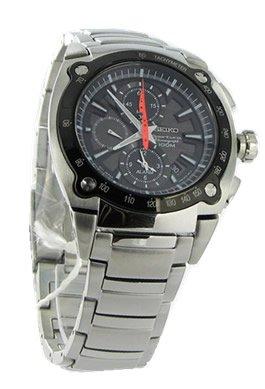 SEIKO SNAA95P1 – Reloj de caballero de cuarzo, correa de acero inoxidable color plata