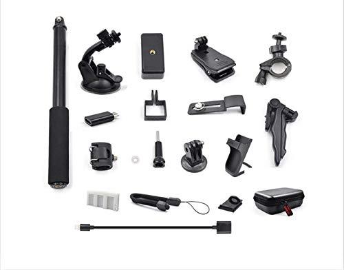 FiedFikt Erweiterungszubehör-Set 21-in-1 Action-Kamera-Halterungen für DJI OSMO Pocket Saugnapf Halter leicht tragbar Mini einziehbares Stativ (Hängematte Stativ)