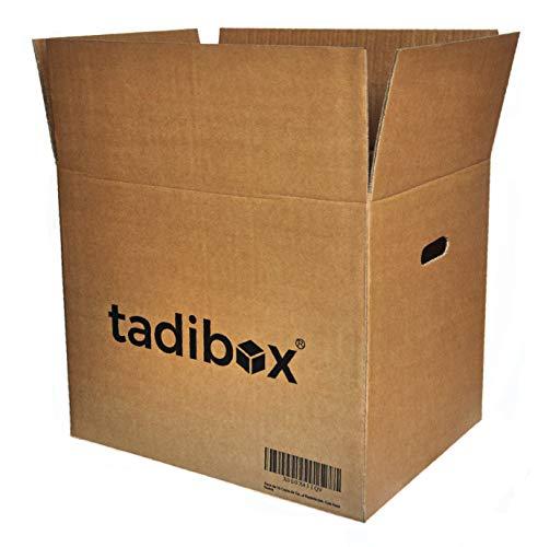 Pack 7 Cajas de Cartón con Asas Extra Resistentes - 470x350x390mm - VARIOS TAMAÑOS - Canal Doble Alta Calidad Reforzado - Cajas Mudanza y Almacenaje Fabricadas en España 100% RECICLABLES