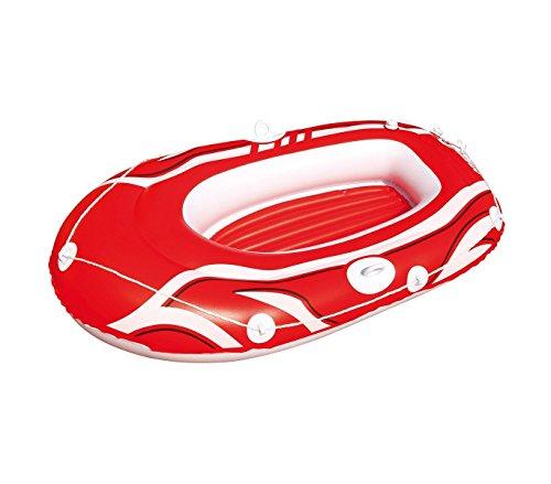 Bestway 61050 canotto gonfiabile colore rosso 155 x 93 cm per bambini e adulti. mws