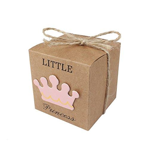 ox Candy Boxen Baby Dusche Hochtzeit begünstigt, und Geschenke Box für Gäste 5,1 x 5,1 x 5,1 cm Party Supplies (Mädchen) ()