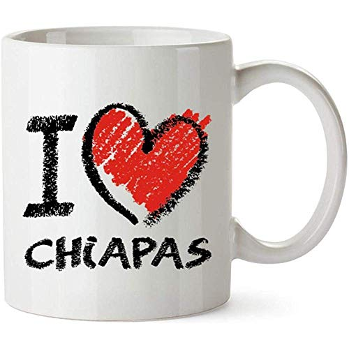 Ich liebe Chiapas Kreideart Becher 11 Unzen