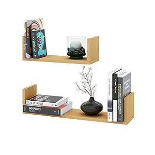 AISEN Braga 2er Set (klein/mittel) Buche Dekor Regale, Holzwerkstoff, 14.5x60x13.6 cm