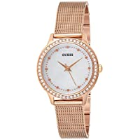 Guess Women's Mother of Pearl Dial Rose Gold Plated Stainless Steel Watch - W0647L2