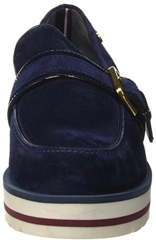 Tommy Hilfiger D1285ani 7c1, Chaussures Bateau Femme Bleu (Tommy Navy 406)