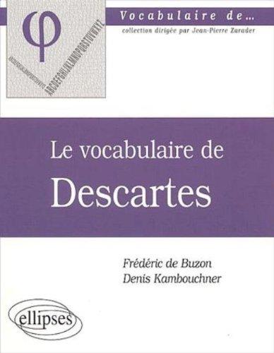 Le vocabulaire de Descartes
