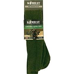 Calcetines Militares Commando Patrol, Marca KOMBAT en Verde Oliva - Talla 38-45