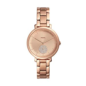 Fossil Damen Analog Quarz Uhr mit Edelstahl Armband ES4438