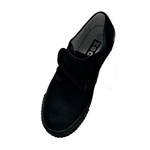 Zeco Supplied By Essential Wear School Girls/Boys/Adults Black Plimsoles Pumps Plimsolls