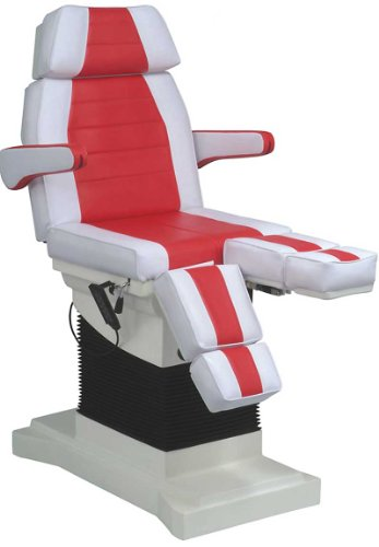 elektrischer rollbarer Luxus-Fußpflegestuhl Kosmetikstuhl mit Neigungsverstellung Farbe weiß