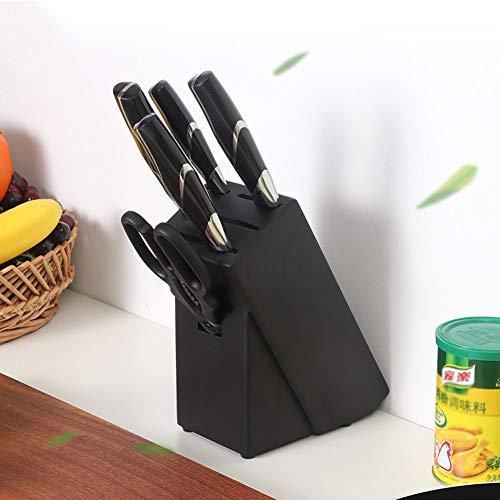 Xue-Shelf Messerhalter Küchenutensilien Gummi Holz Messerblock Haushaltsaufbewahrung Werkzeughalter Rack Einzigartiges Schlitzdesign zum Schutz der Klingen und zum Entfernen der Reinigung (Küchenutensilien Gummi)