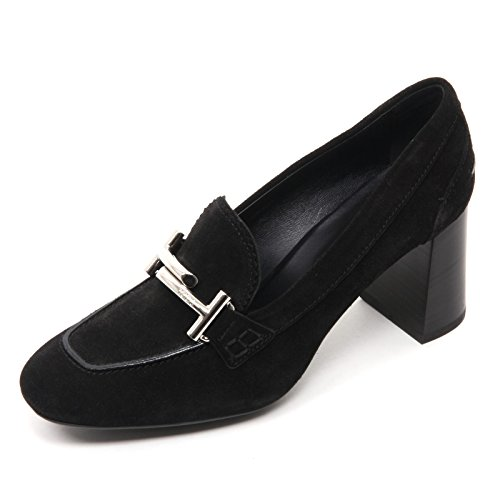 B7648 decollete donna TOD'S T70 scarpa maxi doppia T nero shoe woman Nero