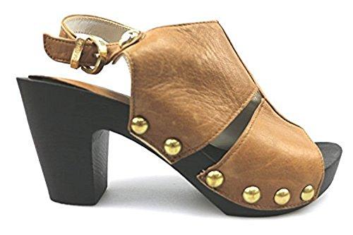 scarpe donna CESARE PACIOTTI 36 sandali marrone pelle AS905