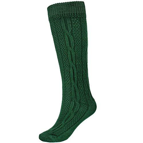 Gaudi-Leathers Traditional calcetines bávaro traje de tirolesa moda alemana de Oktoberfest carnevale para hombre Verde 41