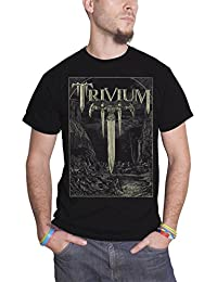 Trivium T Shirt Battle Sword T Band Logo Official Mens Black