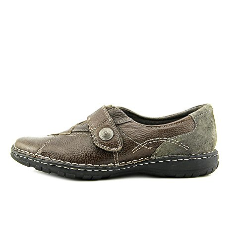 Earth Origins Evelyn Femmes Large Cuir Mocassin Grey