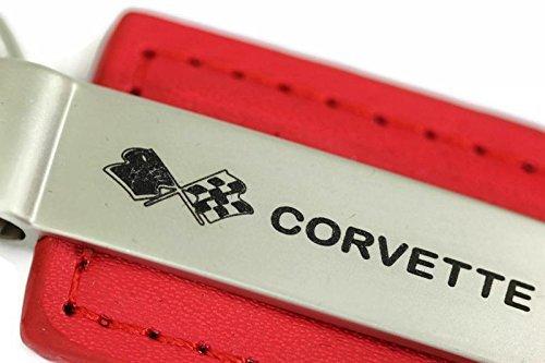 chevy-dantegts-chevrolet-corvette-c3-portachiavi-in-pelle-con-anello-portachiavi-rettangolare-colore
