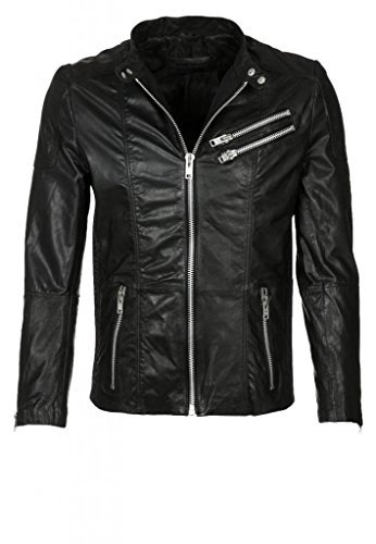 Leder Junction Herren Jacke Gr. Large, schwarz (Herren Leder-junction-jacke)