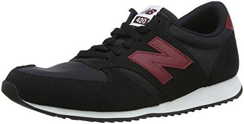 New Balance Herren 420 Sneaker, Schwarz (Black/Burgundy Blk), 42.5 EU