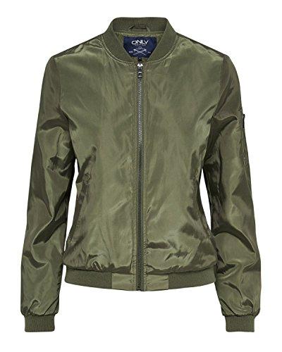 Only Damen Übergangsjacke onlLinea grün grün XS (Blau-bomber)