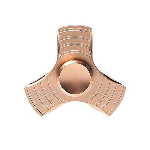 ZOMTOP Tri-Fidget Spinner à doigts de doigts de métal Temps