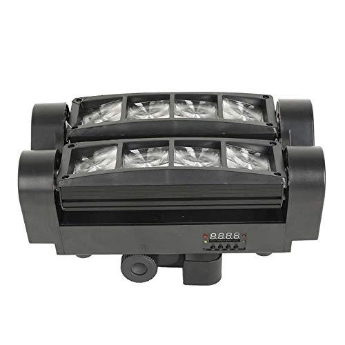 Festnight Spider Spot Moving Head LED DJ-Beleuchtung RGBW 8 x 3 W DMX 512 Dual Sweeper-Impuls-Strobe-Effekt für Restaurant-Live-Konzert-Beleuchtung KTV Bar Disco-Projektor Dual Strobe