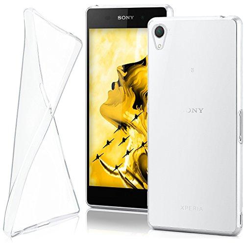 moex Sony Xperia Z2   Hülle Silikon Transparent Klar Clear Back-Cover TPU Schutzhülle Dünn Handyhülle für Sony Xperia Z2 Case Ultra-Slim Silikonhülle Rückseite