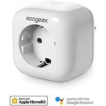 Enchufe Wi-Fi Inteligente Koogeek Compatible con Apple HomeKit y Alexa Control Remoto de La