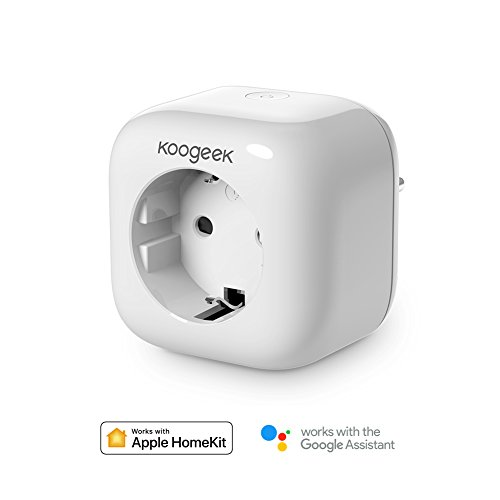 Enchufe wifi Inteligente Koogeek Smart plug Compatible con Apple HomeKit y Alexa...