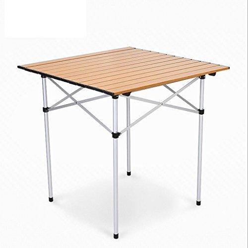 Faltbares Tisch-Aluminium im Freien tragbares kampierendes Picknick-Grill-Multifunktionstische 2.9KG (Farbe : Gold)