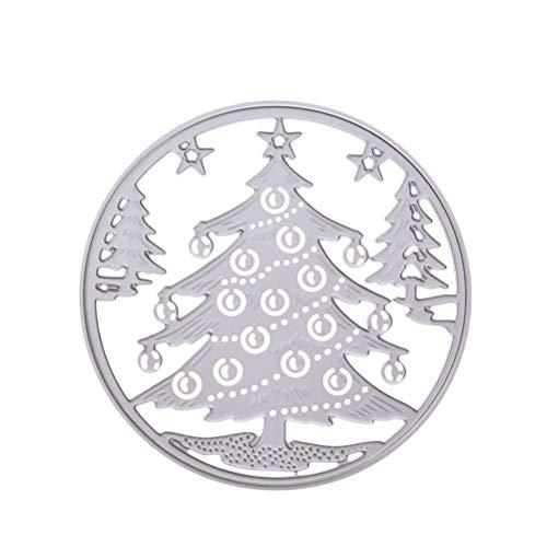 SUPVOX Weihnachtsbaum Stanzformen Weihnachten Stanzschablone Tannenbaum Schablone Metall Prägeschablonen Album Scrapbooking DIY Weihnachtsdeko