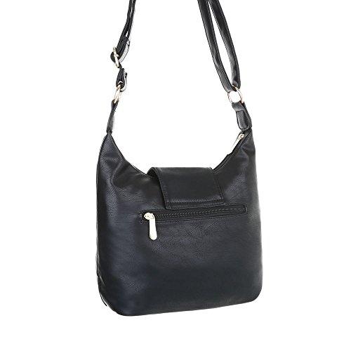 Taschen Handtasche In Used Optik Schwarz