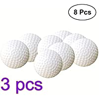 YeahiBaby 24pcs Golf Bolas de plástico Juego Bolas de al Aire Libre Bolas de Entrenamiento Golf Bolas de Práctica para Niños golfistas (Blanco)