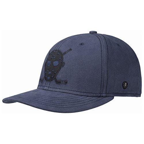 Brushed Twill Hat (Stetson Cali Brushed Twill Cap Basecap Baseballcap Baumwollcap Kappe Herren | Snapback, mit Schirm, Futter Herbst-Winter | One Size blau)