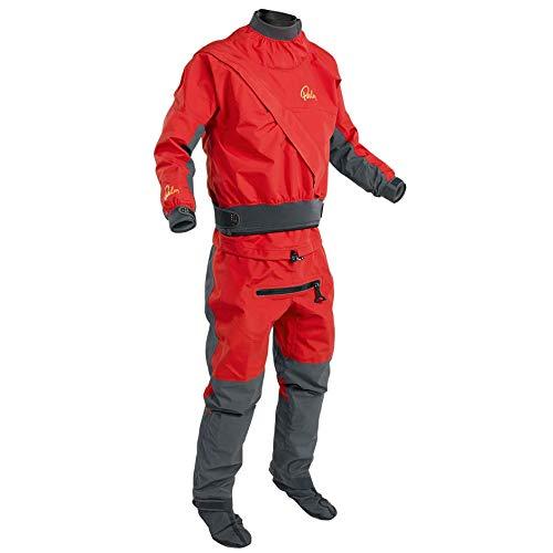 Palm Kajak oder Kajak - Herren Cascade Frontzipp Kayak Drysuit Dry Suit + Con Zip Flame Red - 3 Schicht - Dry -