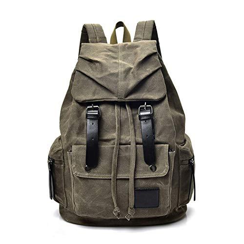 LF Große Kapazität Rucksack Laptop Rucksack wasserdichte Schultasche, Outdoor-Reisen Kletterrucksack, Herren und Damen College Daypacks, Business Casual Rucksäcke (Color : ArmyGreen, Size : 45cm)