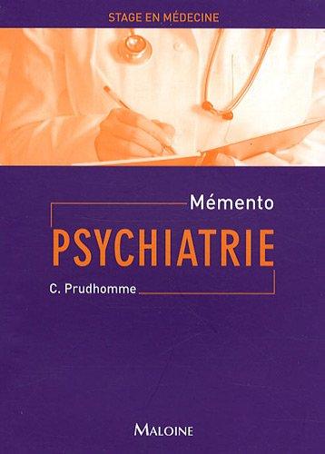 Mémento psychiatrie par Christiane Prudhomme