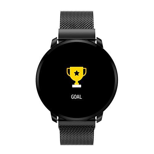 SH-Flying Bluetooth Smart Watch, Farbdisplay Voller Touchscreen Smart Armband Multi-Motion-Modus Herzfrequenz Blutdrucküberwachung Sportarmband (Sehbehinderte Spielen Karten)
