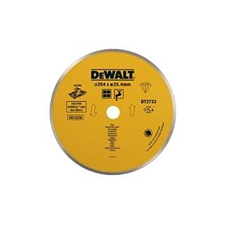 DeWalt DT3733-XJ Disco de Diamante para Corte en húmedo 250 x 25.4 mm-Azulejos de cerámica, 254×25.4mm