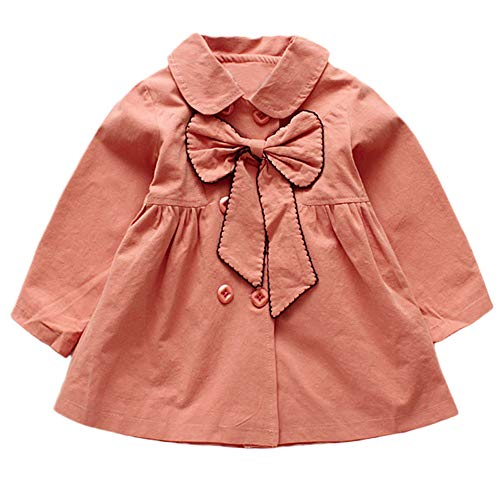 cinnamou Baby Mädchen Bogenjacke Oberbekleidung Tops Freizeitkleidung Mantel