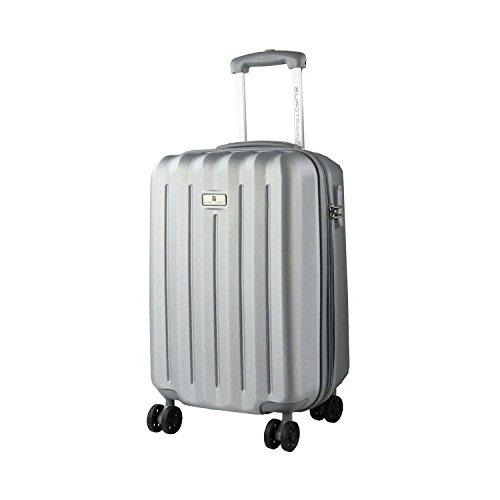 AVANTI TRENDSTORE - Kiral- Valigia da viaggio piccola, disponibile in diverse colorazioni (Argento)