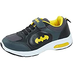 DC Comics Batman Light Up - Zapatillas Deportivas para niños, Color Negro, Talla 25.5 EU